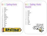 Spelling Words- 2nd Grade; Unit 5 & 6