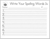 Spelling Words 3x