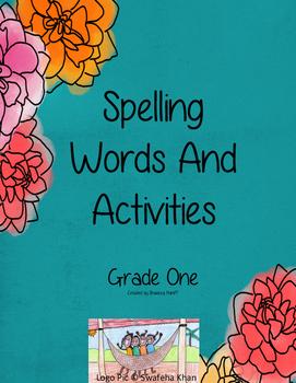 Spelling Words Activities