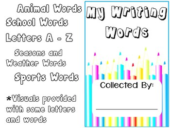 Spelling Words Book