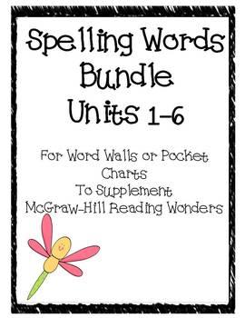 Spelling Words Bundle~ McGraw-Hill Reading Wonders