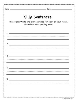 Spelling Words Choice Pack