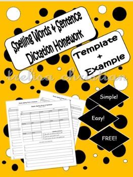 Spelling Words & Dictation Sentences