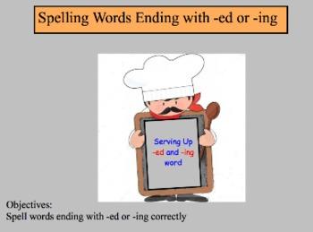 Spelling Words Ending in -ed or -ing