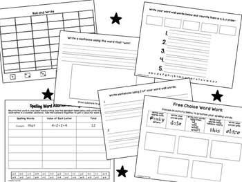 Spelling Words Journal - Practice Spelling Worksheets for any words