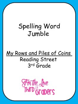 Spelling Words Jumble  Leveled Worksheets  My Rows and Piles of Coins