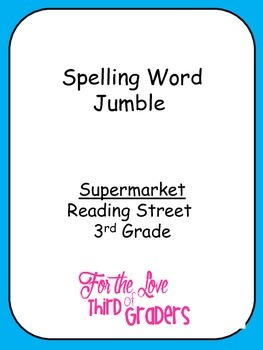 Spelling Words Jumble  Leveled Worksheets  Supermarket