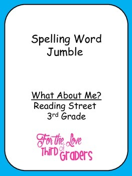 Spelling Words Jumble Leveled Worksheets What About Me?