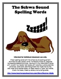 Spelling Words Schwa sounds - Basic Word Work Packet