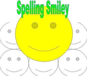 Spelling Words, Sight Words, Vocabulary Words, Smiley Face
