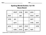 Spelling Words Sudoku featuring /ar/