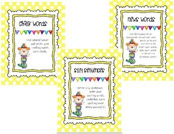 Spelling Words Their Way Spelling Lists (Level 1-4) and Activity Cards Bundle