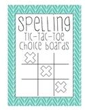 Spelling Words Tic-Tac-Toe