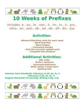 Spelling Words Using Prefixes