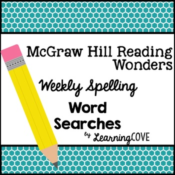 Spelling Words Word Search - Wonders McGraw Hill 3rd Grade Unit 4
