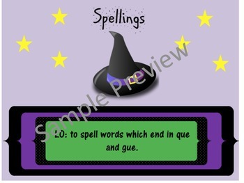 Spelling Words ending in gue and que