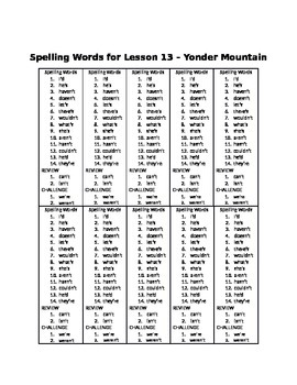 Spelling Words for Unit 3 - BUNDLE Pack - Grade 3 Journeys