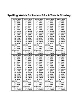 Spelling Words for Unit 4 - BUNDLE Pack - Grade 3 Journeys