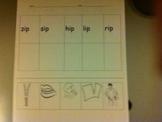 Spelling Wordwork: ip family
