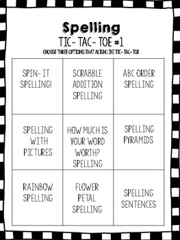 Spelling Work