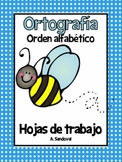 Spelling Work Alphabetize Words in Spanish Ortografia orden alfabetico