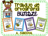 Spelling Work Bundle in Spanish ortografia
