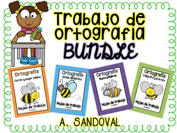 Spelling Work Bundle in Spanish ortografia