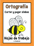 Spelling Work Cut and Paste Syllables in Spanish Ortografia Silabas