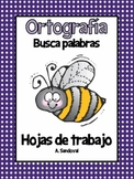 Spelling Work Word Search in Spanish Orotgrafía Busca palabras