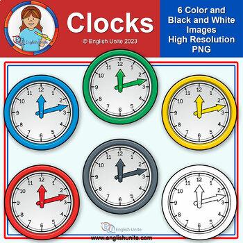 Clip Art - Clocks (clock hands separate)