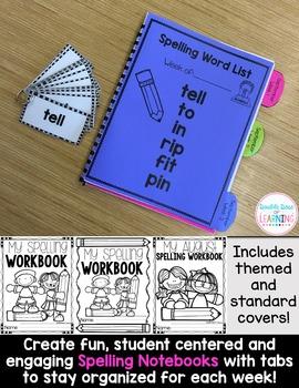 Spelling Workbook: Kindergarten and First Grade Unit 3