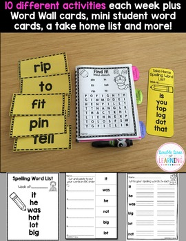 Spelling Workbook: Kindergarten and First Grade Unit 7