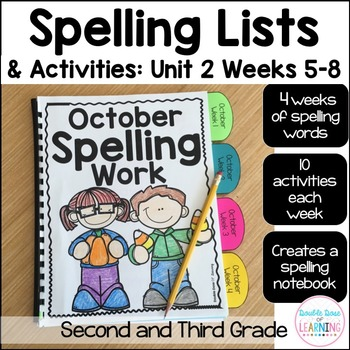 Spelling Workbook: Second and Third Grade Unit 2