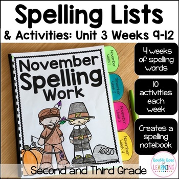 Spelling Workbook: Second and Third Grade Unit 3