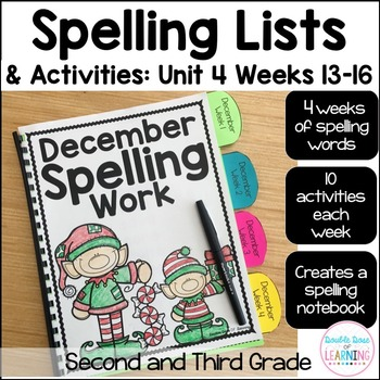 Spelling Workbook: Second and Third Grade Unit 4