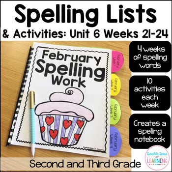 Spelling Workbook: Second and Third Grade Unit 6