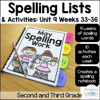 Spelling Workbook: Second and Third Grade Unit 9