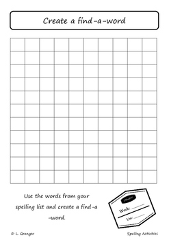 Spelling Workbook- up to 10 words
