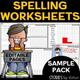 Spelling Worksheets Bundle Sample Pack