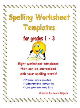 spelling worksheets for any list teaching resources teachers pay