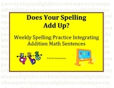 Spelling Worksheet with Math Integration (Addition and Sub