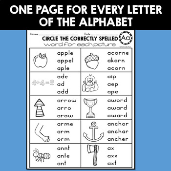 Spelling Printables Grades 2 to 4