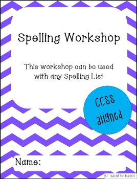 Spelling Workshop Worksheets CCSS Aligned