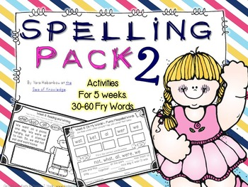 Spelling & Writing Activities 5 Weeks Pack 2 {Fry's 30-60 sight words}