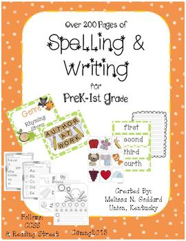 Spelling & Writing K4-1st with Alphabet Cards, Genre, Comp