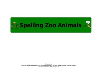 Spelling Zoo Animals