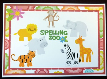 Spelling Zoo Literacy Game to teach any list of spelling words