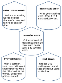 Spelling activities and games