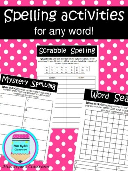 Spelling activities for any word!