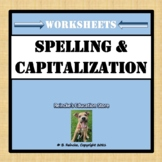 Spelling and Capitalization Worksheets